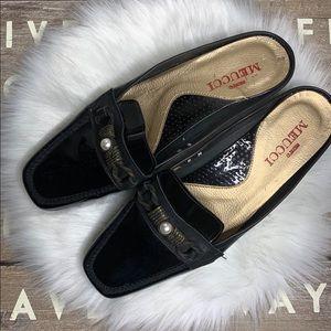 Sesto Meucci patent leather mules size 8